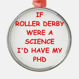 roller derby Silver-Colored round decoration