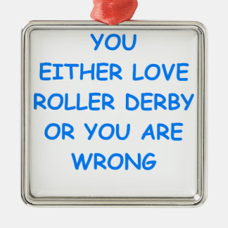 roller derby Silver-Colored square decoration
