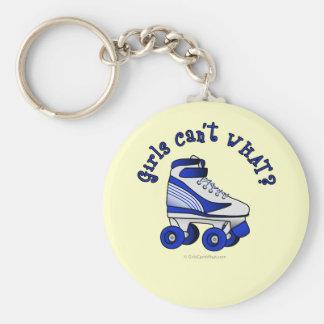 Roller Derby Skate - Blue Key Ring