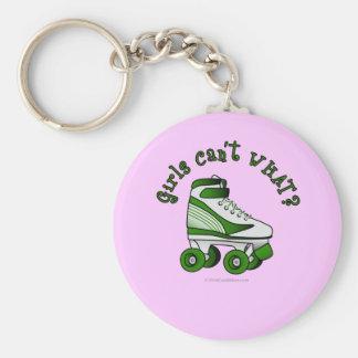 Roller Derby Skate - Green Key Ring