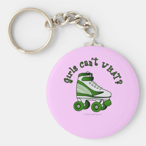 Roller Derby Skate - Green Key Chains