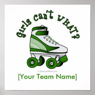 Roller Derby Skate - Green Poster