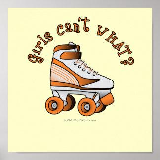 Roller Derby Skate - Orange Posters