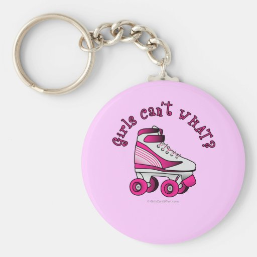 Roller Derby Skate - Pink Key Chain