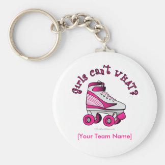 Roller Derby Skate - Pink Key Ring