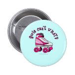 Roller Derby Skate - Pink Pinback Button