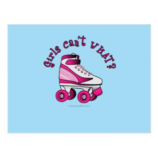 Roller Derby Skate - Pink Post Card