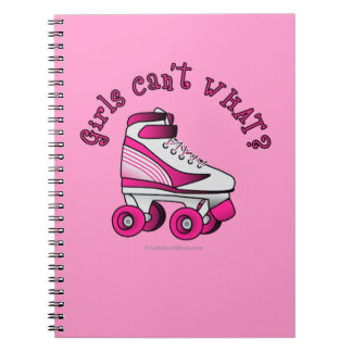 Roller Derby Skate - Pink Spiral Note Book