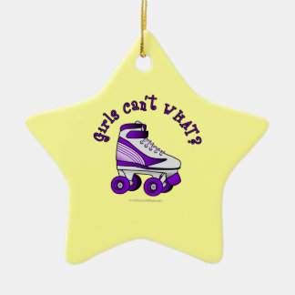 Roller Derby Skate - Purple Christmas Ornament