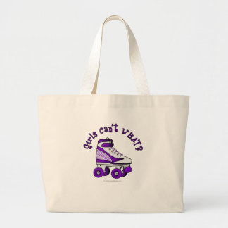Roller Derby Skate - Purple Large Tote Bag