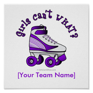 Roller Derby Skate - Purple Poster