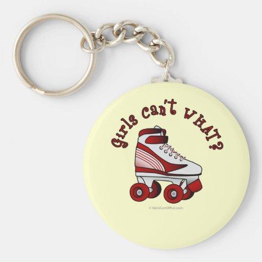 Roller Derby Skate - Red Keychains