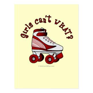 Roller Derby Skate - Red Postcard