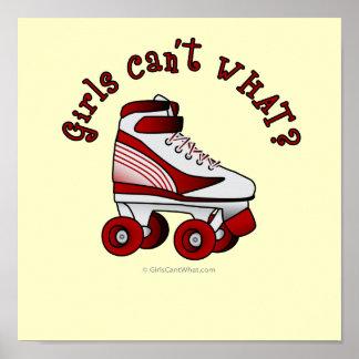 Roller Derby Skate - Red Poster