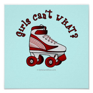 Roller Derby Skate - Red Posters