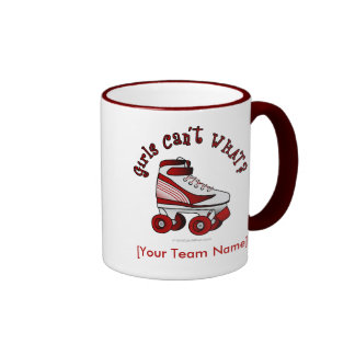 Roller Derby Skate - Red Ringer Mug