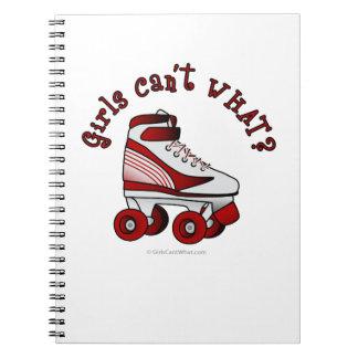 Roller Derby Skate - Red Spiral Notebooks
