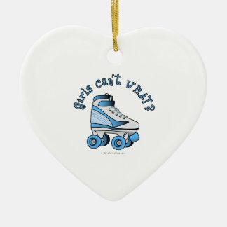 Roller Derby Skate - Sky Blue Christmas Ornament