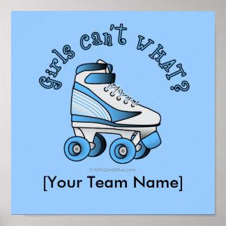 Roller Derby Skate - Sky Blue Poster