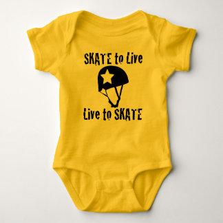 Roller Derby, Skate to Live Live to Skate, Jammer Baby Bodysuit