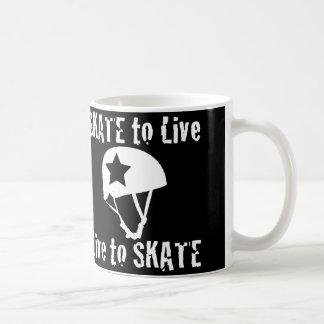 Roller Derby, Skate to Live Live to Skate, Jammer Basic White Mug
