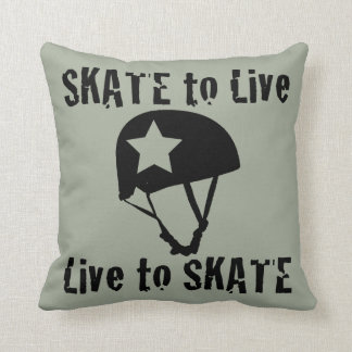 Roller Derby, Skate to Live Live to Skate, Jammer Throw Pillow