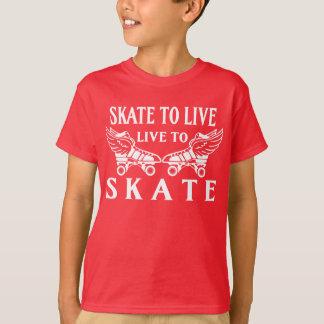 Roller Derby, Skate to Live, Live to Skate T-Shirt