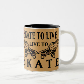 Roller Derby, Skate to Live, Live to Skate Two-Tone Coffee Mug