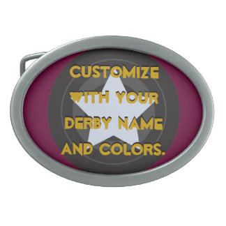 Roller Derby Skate Wheel Jammer Star Belt Buckles