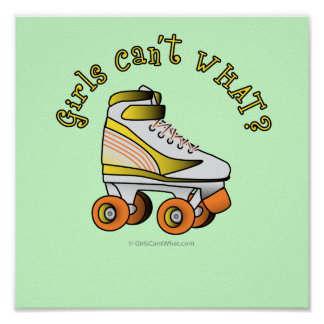 Roller Derby Skate - Yellow Posters