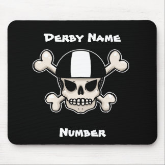 Roller Derby Skull and Crossbones Customisable Mouse Mat