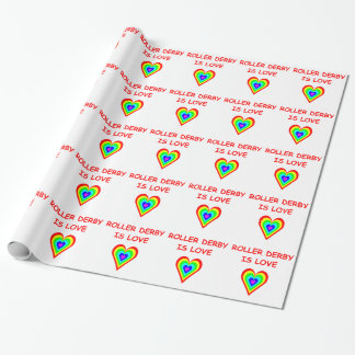 roller derby wrapping paper