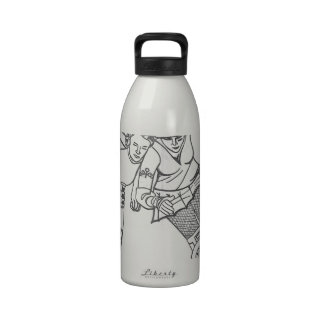 Roller Derby - Yesterday and Today Reusable Water Bottles