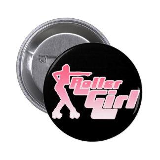 Roller Girl 80s 6 Cm Round Badge