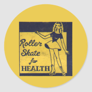 Roller Girl Classic Round Sticker