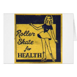 Roller Girl Greeting Card