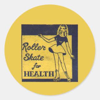 Roller Girl Round Sticker