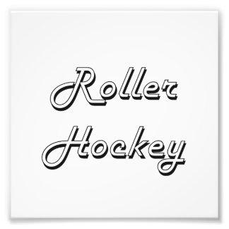 Roller Hockey Classic Retro Design Photo