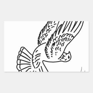 Roller Pigeon in Action Rectangular Sticker