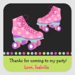 Roller Skate Birthday Thank you Favour Stickers