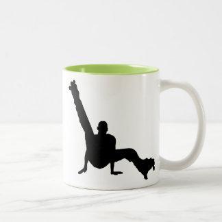Roller Skate Dancing Two-Tone Coffee Mug