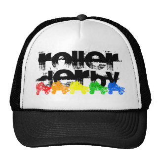 roller skate grunge rainbow cap