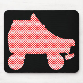 roller skate love mouse pad