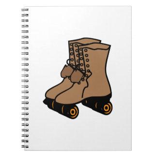 Roller Skate Spiral Note Book
