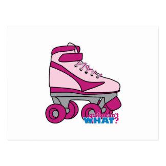 Roller Skate - Pink Postcard