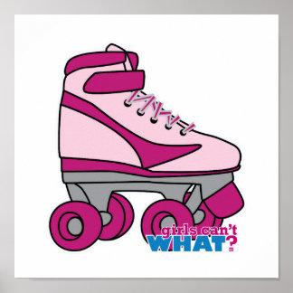 Roller Skate - Pink Posters
