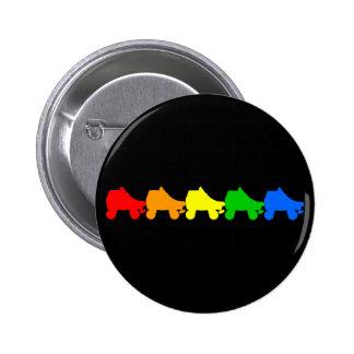 roller skate rainbow 6 cm round badge