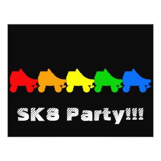 roller skate rainbow 21.5 cm x 28 cm flyer