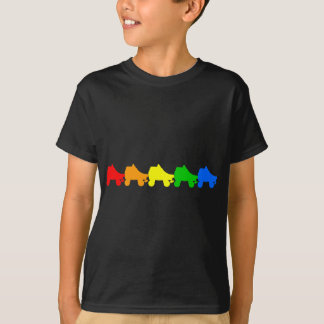 roller skate rainbow t-shirts