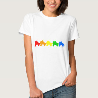 roller skate rainbow t shirts